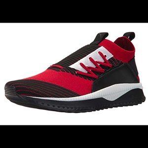 Puma Men's Tsugi Jun Sneaker Red Dahlia Black